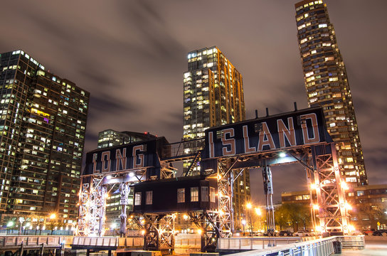 Long Island by night,New York