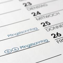 Pfingsten - Pfingstfest - Feiertage