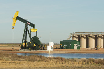 Producing Oil Well in North Dakota