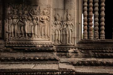 Apsara dancers on Ankor wat wall