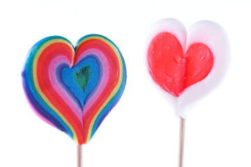 Valentine's Day, heart-shaped lollipops