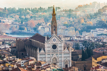 Fotomurales - Basilica of Santa Croce (Basilica of the Holy Cross), Florence,