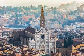 Fototapete - Basilica of Santa Croce (Basilica of the Holy Cross), Florence,