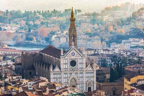 Wall mural Basilica of Santa Croce (Basilica of the Holy Cross), Florence,