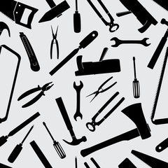 hand tools icons pattern eps10