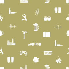 beer icon pattern eps10