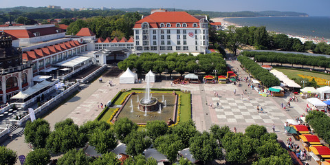 Sopot, Poland. The central square near Baltic seaside