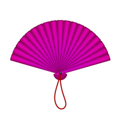 Purple oriental fan