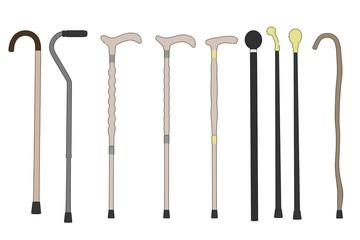 cartoon image of walking sticks
