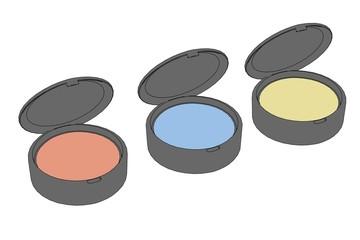 cartoon illustration of eye shadows