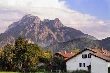 A typical view of Allgau. Bayern Landscape.