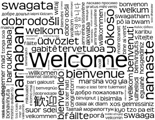 Welcome card customer service greetings smile reception sign welcome card customer service greetings smile reception sign m4hsunfo