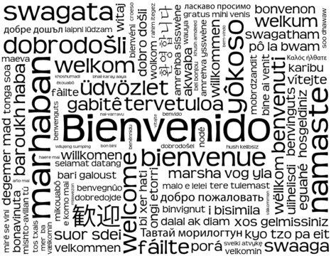 """Carta """"BIENVENIDO"""" (bienvenida servicio al cliente recepción)"""