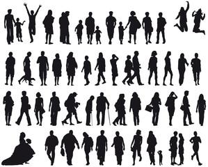 Set Menschen - silhouette - schwarz - vektor