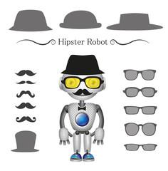 vector hipster robot