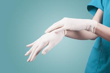 doctor glove Wall mural