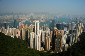 Hong Kong panorama from Victoria Peak
