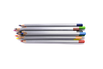 Wooden bright colorful pencils