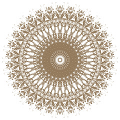 Decorative gold flower with vintage round patterns!!!