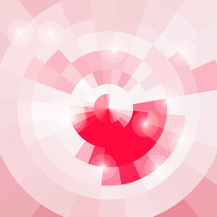 Gentle abstract circular background pink light for your design
