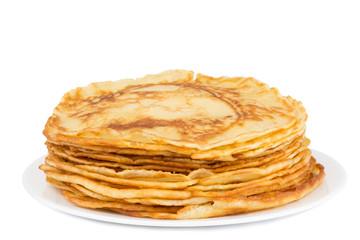 fresh homemade pancakes on a plate