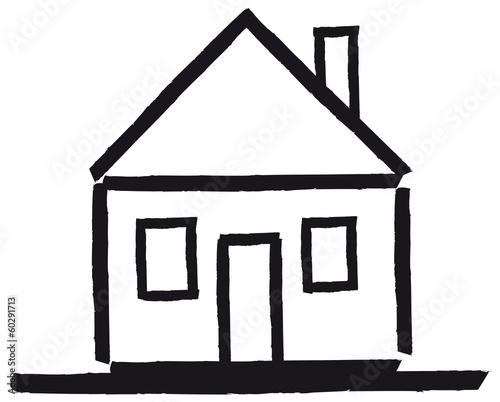 Haus Strichzeichnung