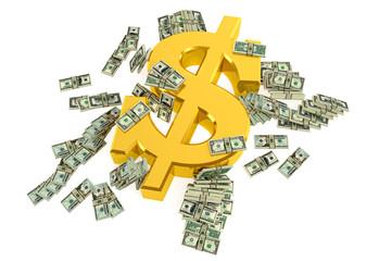 Golden Dollar Sign