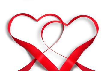 Zwei rote Herzen  - Valentinstag, Ehe, Liebeserklärung...