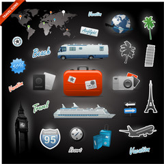 Travel icons elements set collection eps 10
