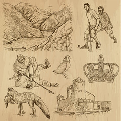 SCANDINAVIA set no.1 - Collection of hand drawn illustrations