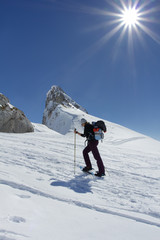 Dem Gipfel auf Schneeschuhen entgegen, Winterwandern, Rofan