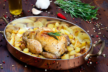 Backed chicken with potatoes
