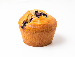 Wall Mural - Blueberry muffins isolated on white background