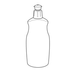 dishwashing liquid bottle outline vector