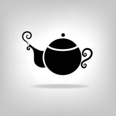 isolated icon kettle, teapot, coffee pot