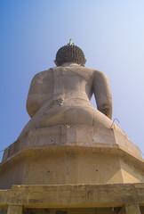 behind buddha statu
