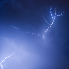 Fototapete - Lightning sky