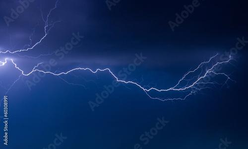 Fototapete Lightning sky