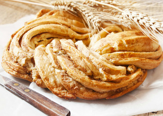 Sweet Bread Braided, Delicious Pastry Product