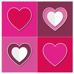 Tableau cœurs couleur.