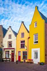 Colorful traditional houses in the Dutch town Deventer