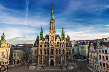Liberec Town Hall in the Czech Republic