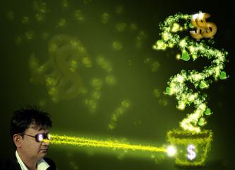 money on mind concept