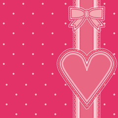 Valentines day old background, vector illustration
