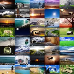 collage viaggiare