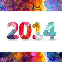 Vector Creative illustration of happy new year 2014. EPS 10