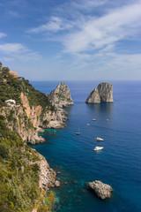 rocks in the sea. Faraglioni, Capri, Italy