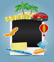 Summer photo frame.