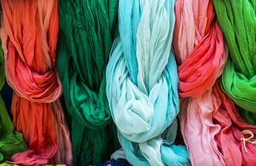 Pezenas (France): colorful foulards
