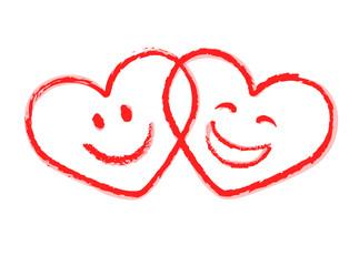 Glückliche Herzen